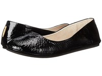 French Sole Sloop Flat Black Patent Flat Shoes