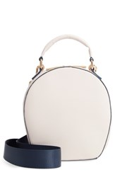 Deux Lux Annabelle Faux Leather Circle Crossbody Bag Ivory Ecru
