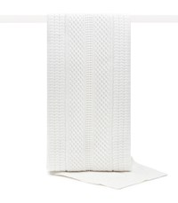Reiss Baylie Cable Knit Scarf In Winter White