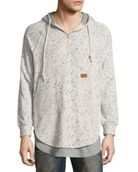 Prps Fissure Double Layer Burnout Hoodie Gray