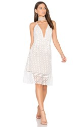 J.O.A. Crochet Dress White