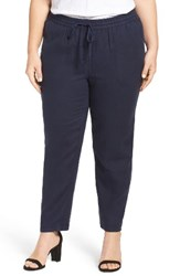 Caslonr Plus Size Women's Caslon Linen Drawstring Pants Navy Peacoat