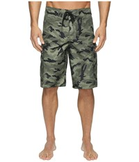 Quiksilver Manic Camo 22 Boardshorts Forest Night Men's Swimwear Green