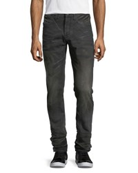 Prps Faded And Whiskered Denim Slim Straight Jeans Black