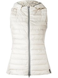 Herno Zipped Hooded Gilet Nude Neutrals