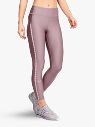 Under Armour Heatgear Vertical Branded Ankle Crop Training Tights Pink