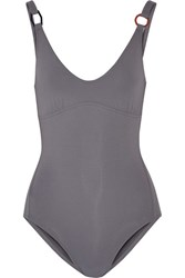 Eres Geometrique Swimsuit Anthracite