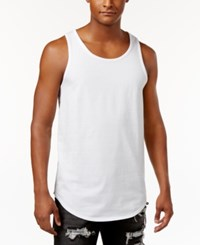 Jaywalker Men's Curved Hem Tank White