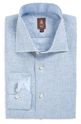 Men's Robert Talbott Tailored Fit Check Linen Dress Shirt