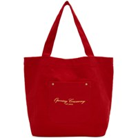 Opening Ceremony Ssense Exclusive Red Corduroy Big Pocket Tote