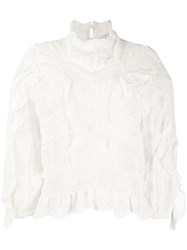 Iro Embroidered Long Sleeve Blouse 60