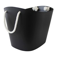 Hachiman Balcolore Basket With Rope Handle Black