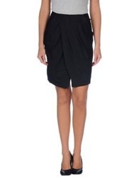 Ck Calvin Klein Knee Length Skirts Black