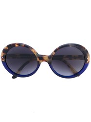 Oliver Goldsmith 'Oop' Round Frame Sunglasses Unisex Acetate One Size Brown