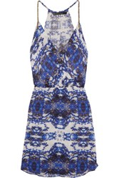 Vix Swimwear Livia Printed Voile Coverup Royal Blue