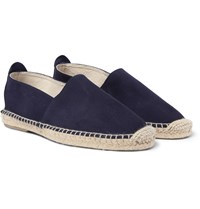 Anderson And Sheppard Suede Espadrilles Blue