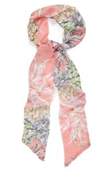 Sole Society Women's Pineapple Print Skinny Scarf