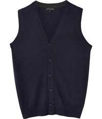 Austin Reed Merino Navy Mix Button Tank