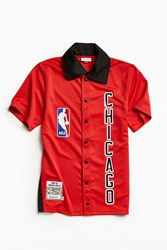 Mitchell And Ness Authentic Nba Chicago Bulls Shooting Shirt Red