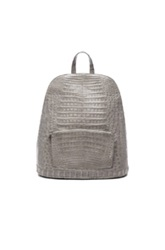 Nancy Gonzalez Crocodile Backpack In Gray Animal Print