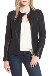 Cupcakes And Cashmere Women's Dolly Faux Leather Jacket Black