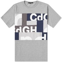 Comme Des Garcons Homme Cdg Mix Panel Tee Grey