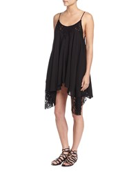 On The Road Maggiano Handkerchief Hem Dress W Lace Trim Women's