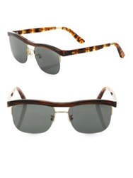 Toms Locke 56Mm Sport Sunglasses Brown