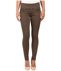 Jag Jeans Nora Pull On Skinny Freedom Colored Knit Denim In Saddle Saddle Women's Brown