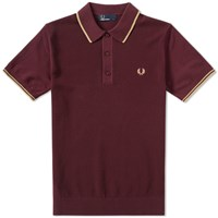 Fred Perry Knitted Polo Brown