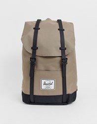 Herschel Supply Co Retreat Backpack With Contrast Base In Sand 19.5L Tan