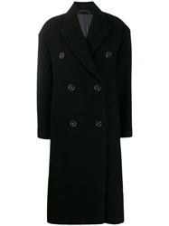 Acne Studios Long Double Breasted Coat Black