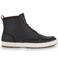 Aldo Ranstrom Leather High Top Trainers Black Leather