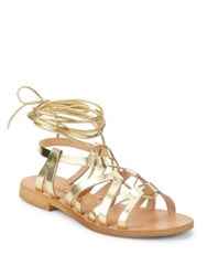 Cocobelle Cleo Leather Lace Up Sandals Natural