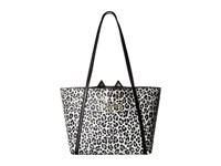 Charlotte Olympia Mini Feline Shopper Black White Leopard Printed Pvc