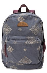 O'neill Beachblazer Print Canvas Backpack Blue Obre Blue