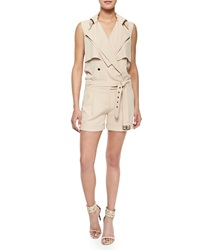 Haute Hippie Belted Knit Trench Safari Jumpsuit
