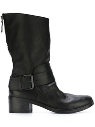 Marsell Marsa Ll Rear Zip Buckled Boots Black
