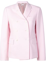Thom Browne Dyed Mohair Narrow Sport Coat Pink