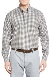 Men's Cutter And Buck 'White Sage' Classic Fit Long Sleeve Check Sport Shirt