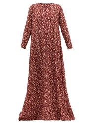 Dodo Bar Or Noreen Floral Print Cotton Maxi Dress Red Print