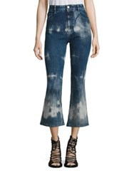 Stella Mccartney Tie Dye High Rise Kick Flare Jeans Bluette