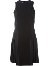 Neil Barrett Pleated Side Mini Dress Black