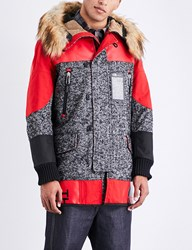 Junya Watanabe X The North Face Wool Blend Parka Jacket Black White Red