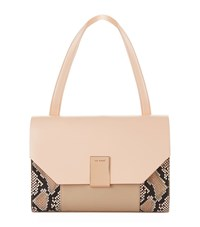 Ted Baker Margo Faux Snake Shoulder Bag Female Neutral