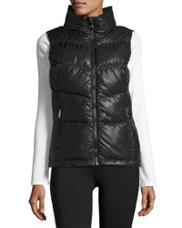 Marc New York Puffy Collar Chevron Seamed Vest Black