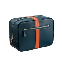 Stow Luxury Soft Leather Men's Wash Bag In Emerald Green