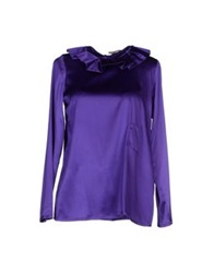 Douuod Blouses Dark Purple