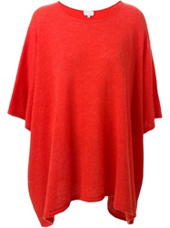 Lala Berlin Loose Fit Short Sleeve Sweater Red