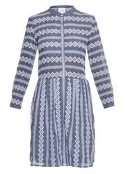 Band Of Outsiders Floral Embroidered Cotton Dress
